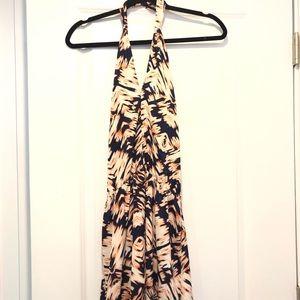Dynamite Print Dress with Slit